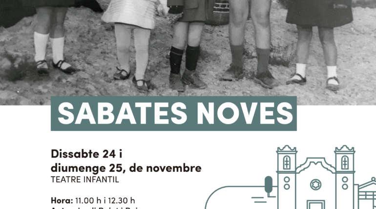 """""""SABATES NOVES"""", l'última producció de la companyia Tian Gombau-Teatre de l'Home Dibuixat s'estrenarà a l'Auditori Municipal de Vinaròs, els propers 24 i 25 de novembre"""