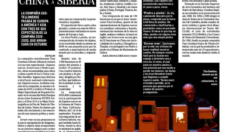 L'HOME DIBUIXAT, de CHINA a SIBERIA. El Mundo, 30.08.2019